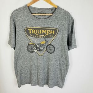 Lucky Brand Triumph Motorcycle T Shirt, X Large